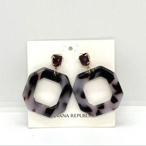 Banana Republic Resin Purple Drop Earrings
